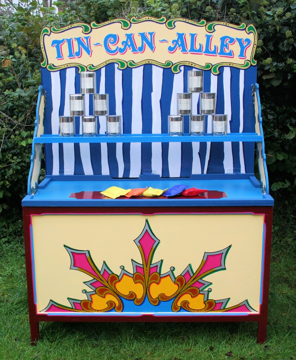 A Tin Can Alley Carnival Game - Bachelorette Party Activities for the Casual Bride