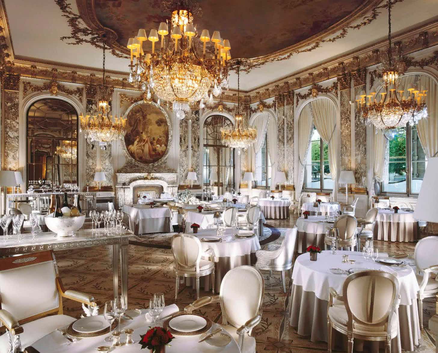 Luxurious interior of a restaurant with chandeliers - Bachelorette Party Activities for the Break the Bank Bride