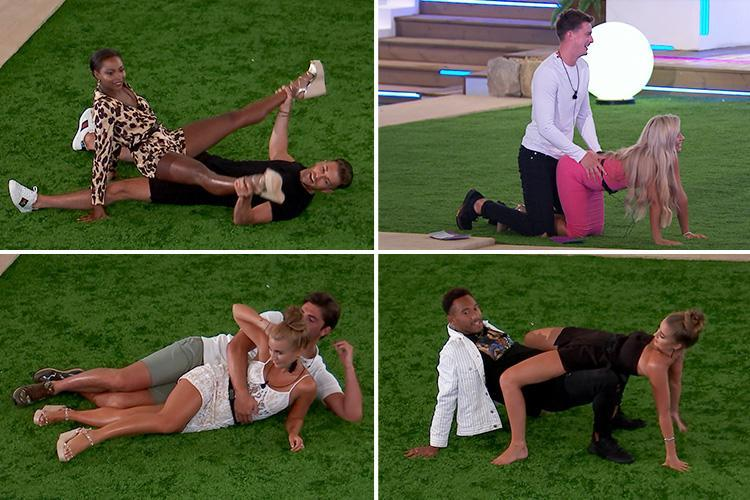 Four couple from love island in different sexual positions (dressed) -Bachelorette Party Activities for the Active Bride