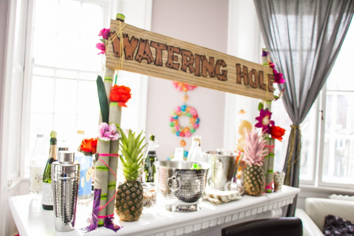 DIY Bar at Festival Bachelorette Party Decor Ideas